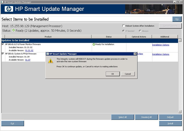 HP Smart Update Manager Help